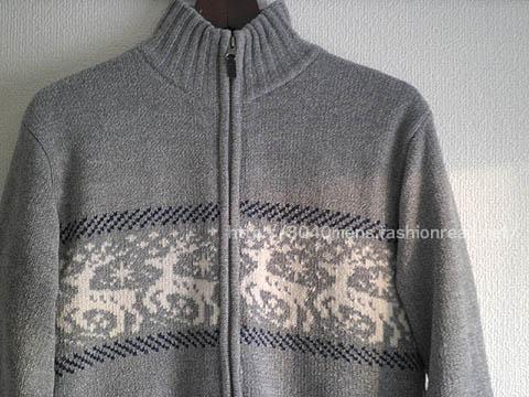 トナイカイ柄の中綿入りニットセーター