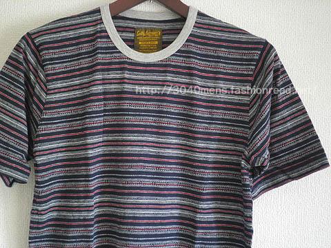 スミスアメリカンの総柄ボーダー半袖Tシャツ